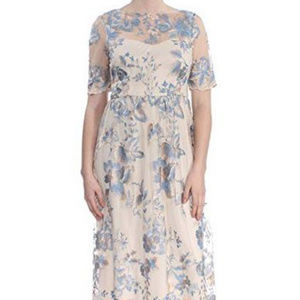 Adrianna Papell Embroidered lace Long Dress NWOT
